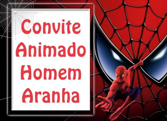 Convite Animado Homem Aranha