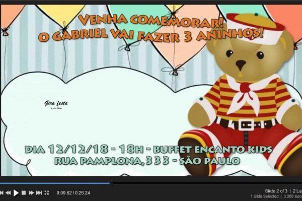 Convite Animado Ursinho Marinheiro Video Rápido Com Música