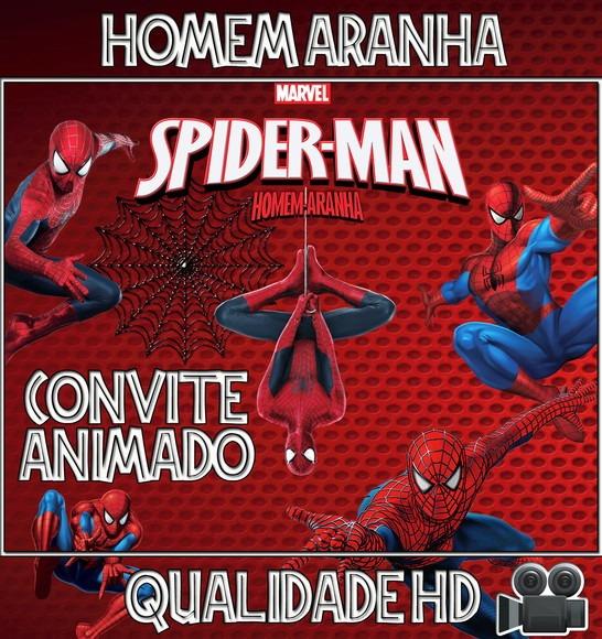 Homem Aranha Spider Man Convite Animado Em Video