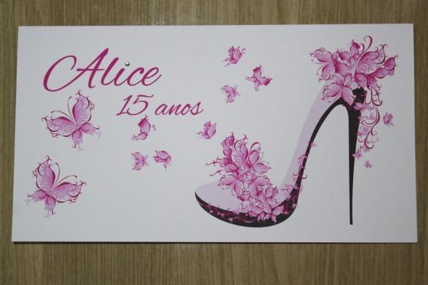 Convite Aniversário 15 Anos Sapato Promoção Barato No Elo7