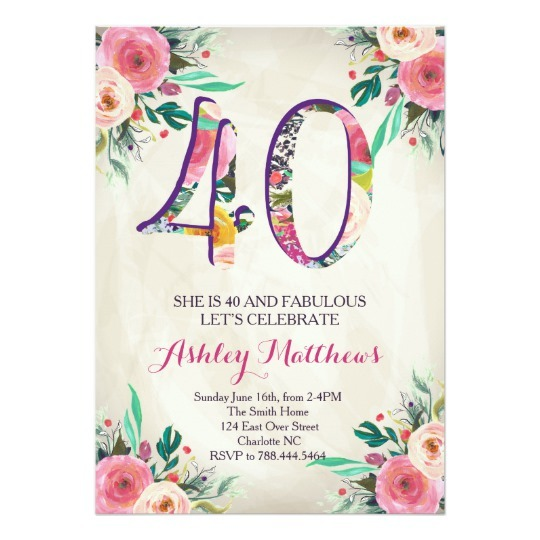 Convite Aniversario 40 Anos Feminino 3 » Happy Birthday World