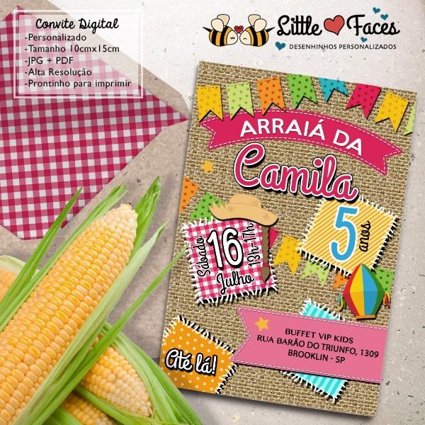 Convite Aniversario Festa Junina Digital No Elo7