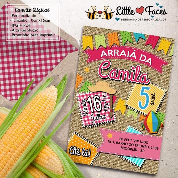 Convite Aniversario Festa Junina Menino No Elo7