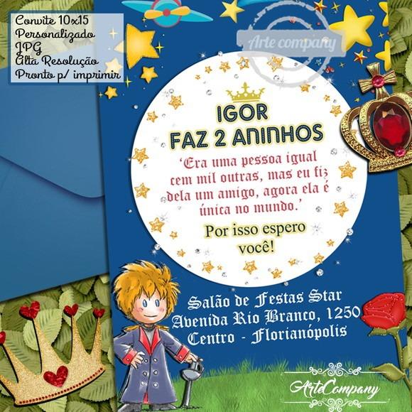Convite Aniversário Pequeno Príncipe No Elo7