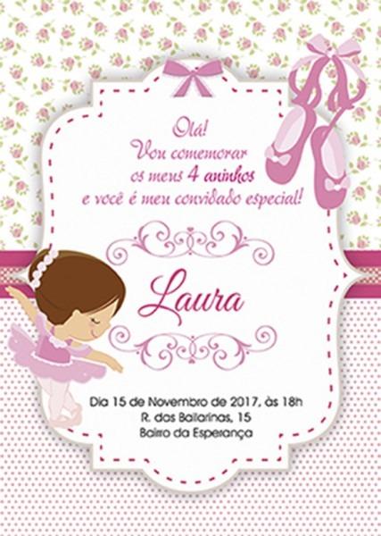 Convite Bailarina
