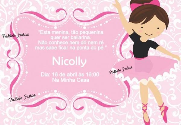 Convite Bailarina No Elo7