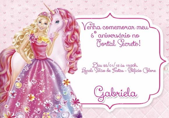 Painel Aniversário Barbie E O Portal Secreto