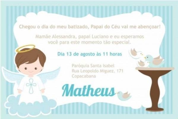 30 Convites Delicados Para Batizado – Modelos De Convite