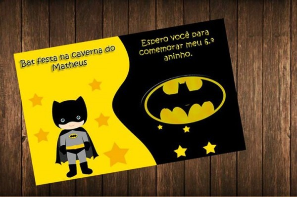 Convite Batman No Elo7