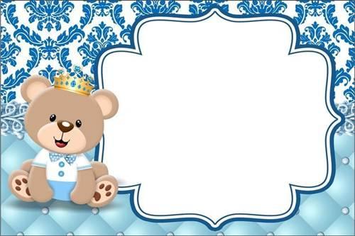 37 Convites Do Bebê Ursinho Para Se Encantar! – Modelos De Convite