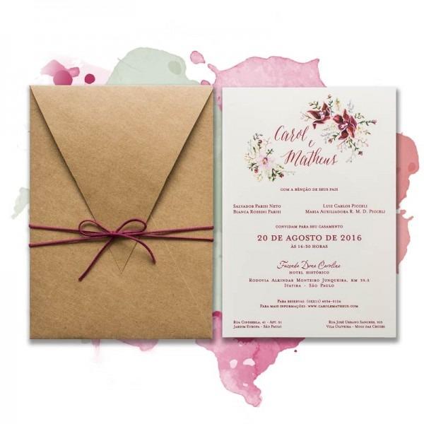 Convites De Casamento Personalizados