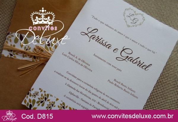 Convite De Casamento Rústico Chique Floral