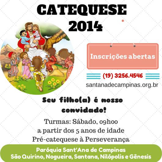 Inscrição Para Catequese E Crisma « Paróquia Sant'ana De Campinas
