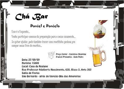 Daniel S2 Daniela  Convite Chá Bar Correção
