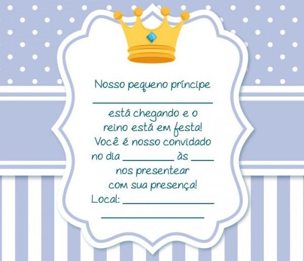 Convite Chá De Bebê Príncipe – 16 Modelos Especiais! – Modelos De
