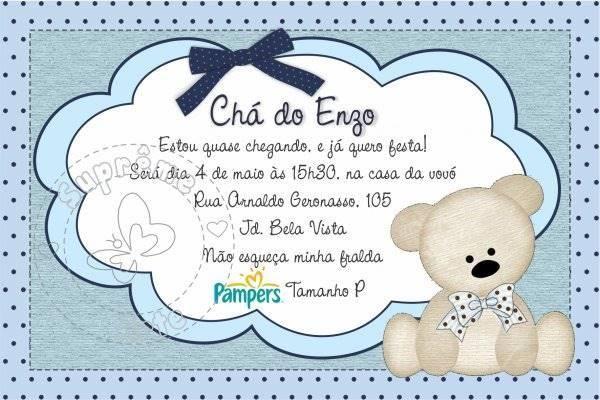 Convite Para Chá De Bebê Virtual  +30 Convite Chá De Fraldas