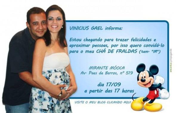Convite Para ChÁ Fralda    Avaré