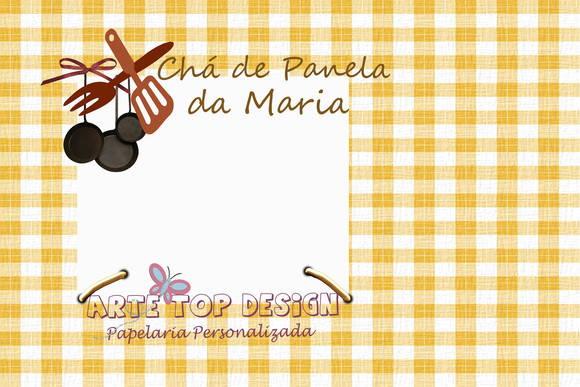 Convite Chá De Panela Xadrez Amarelo No Elo7