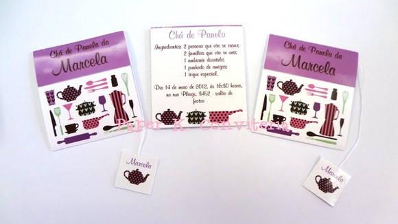 Convite Chá De Panela Com Sachê De Chá No Elo7