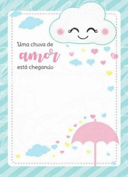Convite Chuva De Amor – 30 Modelos Lindos Para Imprimir & Se Inspirar!
