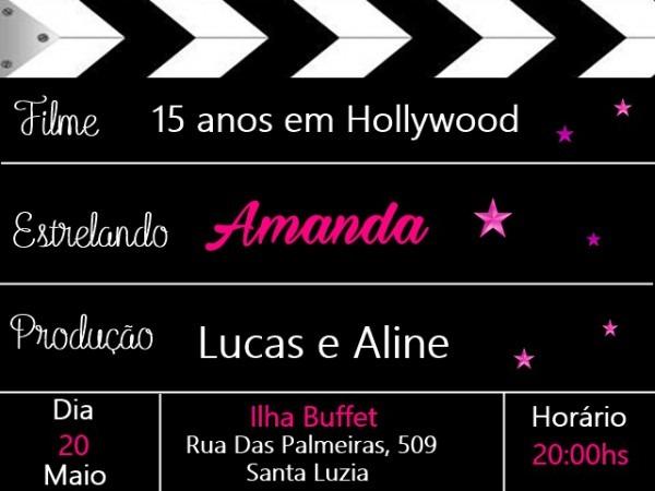 Convite Cinema Digital No Elo7