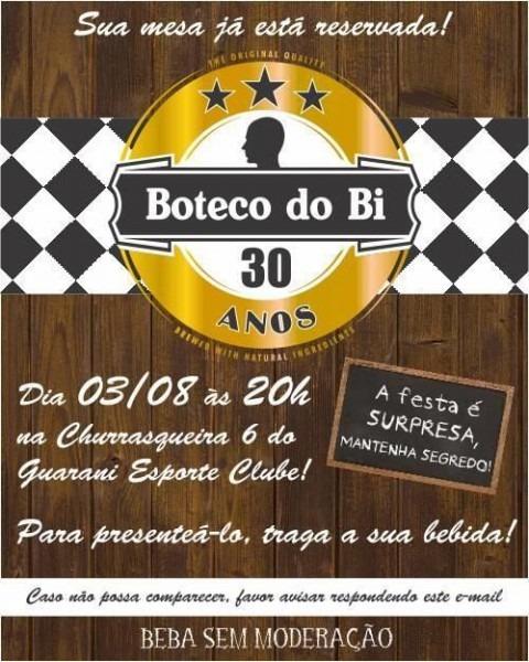 Convite De Aniversário Boteco – Modelos De Convite