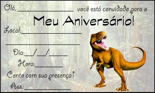 Convite De Aniversario Dinossauro Para Imprimir » Happy Birthday World