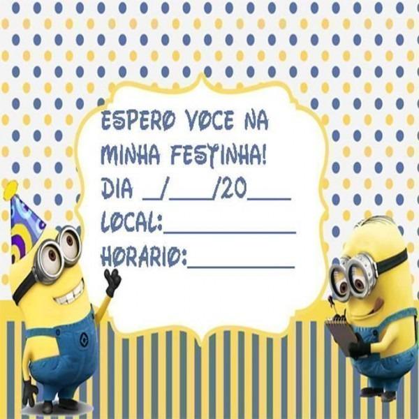 Convite De Aniversário Dos Minions – Modelos De Convite