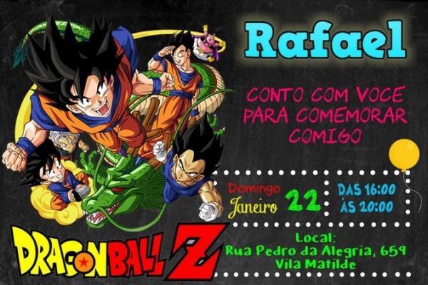 Convite De Aniversario Dragon Ball Z 3 » Happy Birthday World