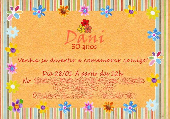 Convite De Aniversario Tema Flores 4 » Happy Birthday World