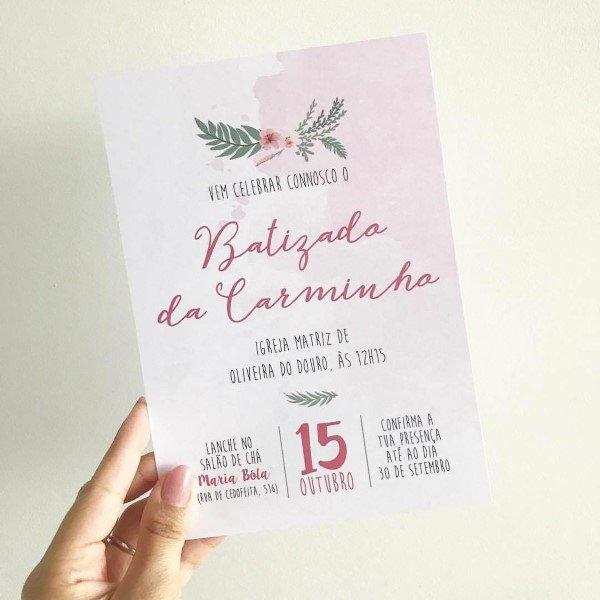 Convite De Batizado  Modelos Para Imprimir