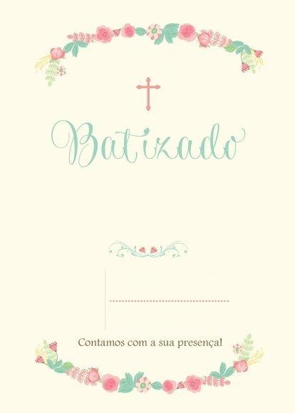 Convites De Batizado Para Imprimir
