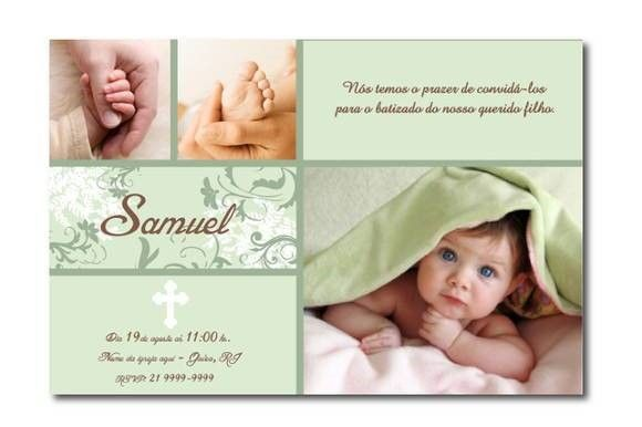 Convite De Batizado Com Foto – Modelos De Convite