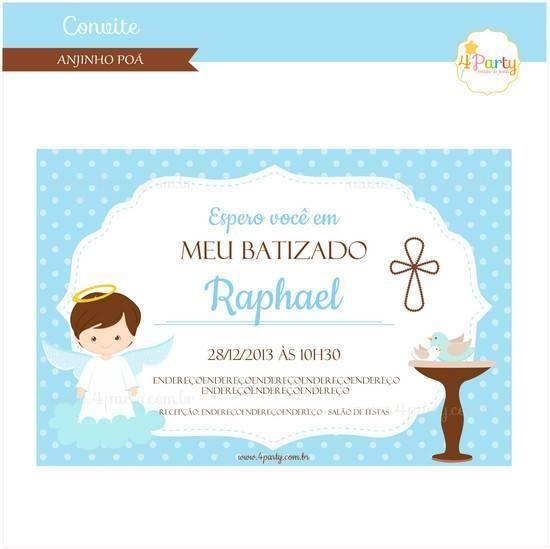 Convite De Batizado Para Imprimir – Modelos De Convite