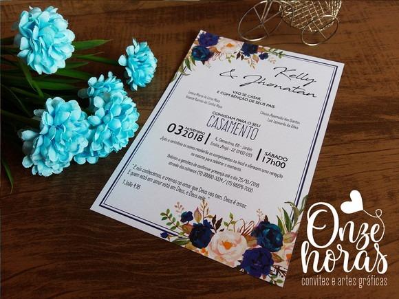 Convite De Casamento 181a