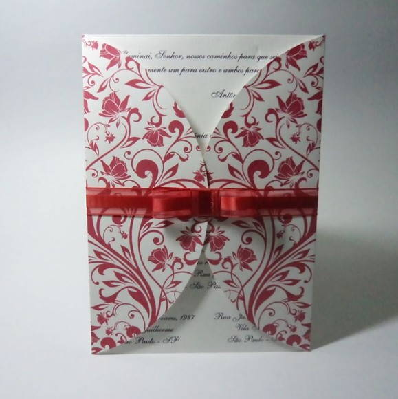 Convite Casamento Envelope Impres Floral No Elo7