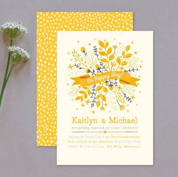 Casar É… » Arquivos Convite De Casamento Amarelo  Vários Modelos