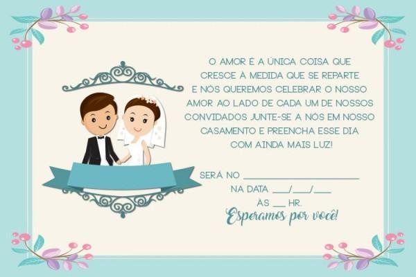 Convites De Casamento Para Imprimir – Modelos Para Editar