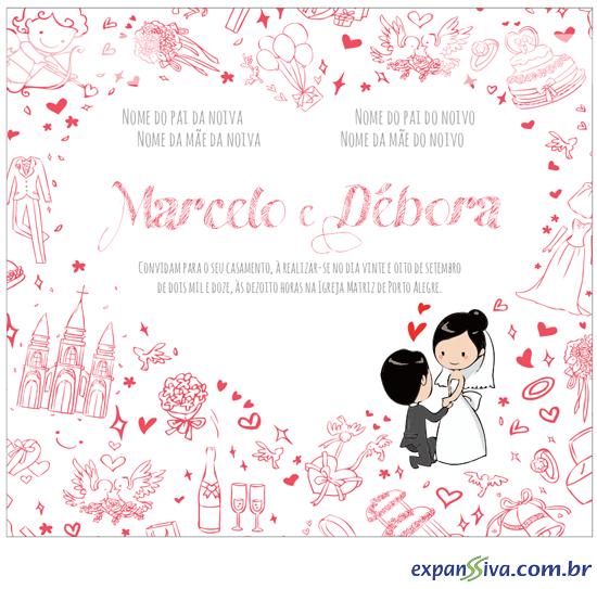 Convites Para Casamento M3299