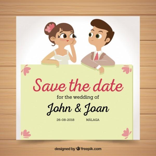 Convite De Casamento Divertido Com Marido E Mulher