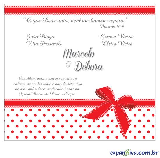 Convites Para Casamento M2691