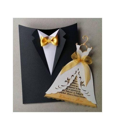 Molde Silhouette Convite Casamento Noivos