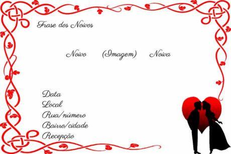 Convites De Casamento Modelos Para Editar, Com Alianças
