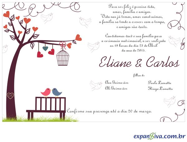 Convites Para Casamento M4117