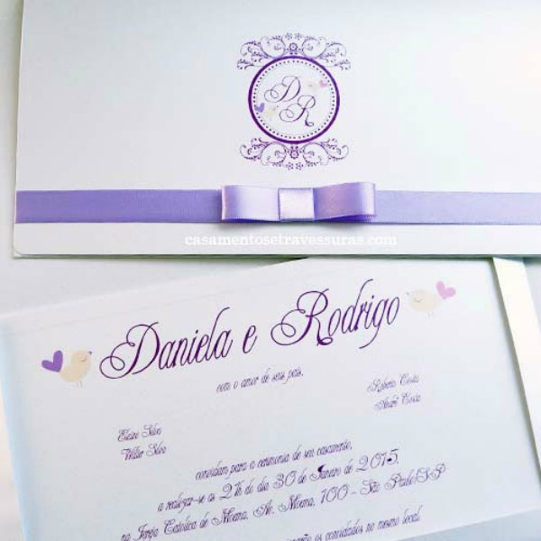 Casar É… » Arquivos » Convite De Casamento Roxo E Lilás  Vários