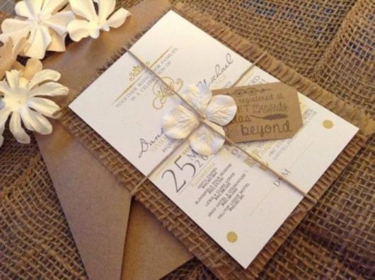 Convite De Casamento Rústico – 60 Ideias Divinas & Passo A Passo!