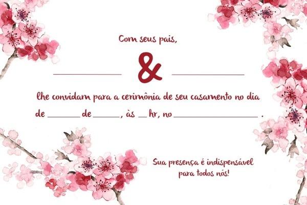 Convite De Casamento Simples E Criativo  30 Modelos