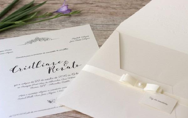 Dicas Para Acertar No Convite De Casamento Simples E Clássico