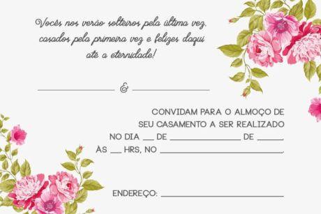 Modelos De Convites De Casamento Para Editar, Imprimir