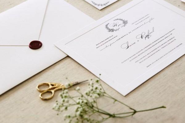 Convite De Casamento Tradicional E Clássico  Aposte Sem Erro!